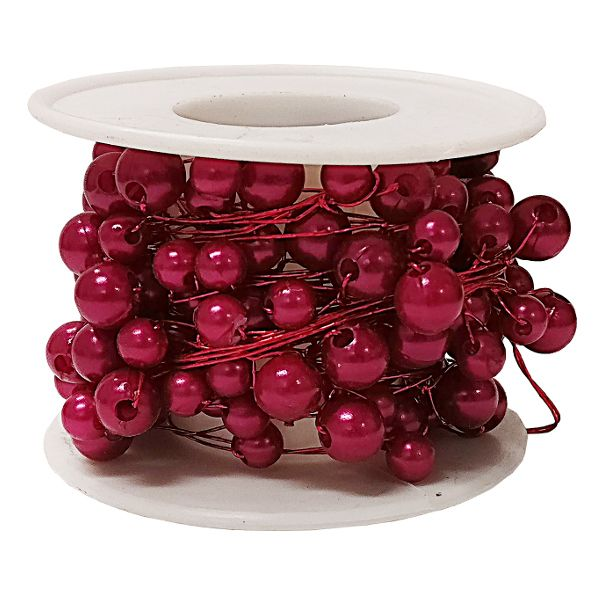 2736-  WIRE BEADED 26.25′ ROLL RED