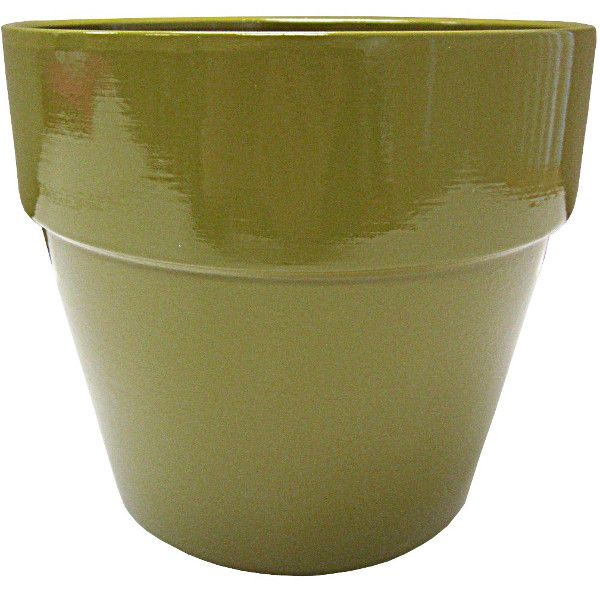 133173-3- 6.5″ Terra Cotta Olive Green 24/cs