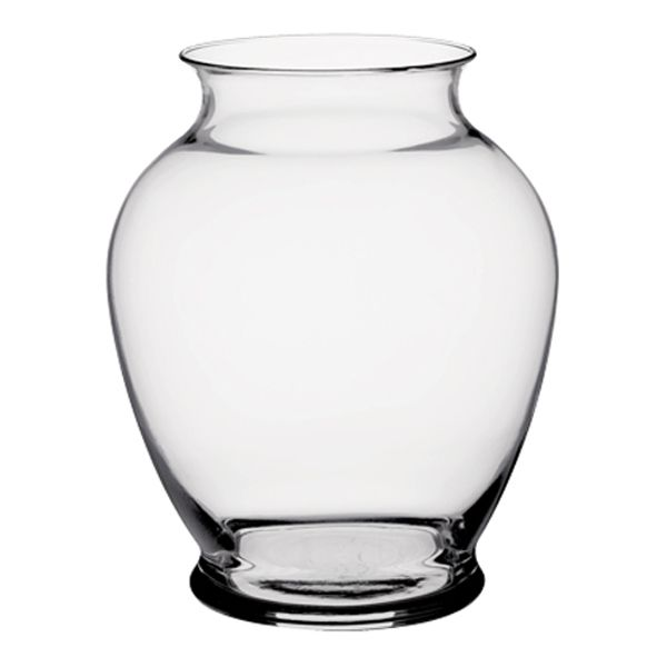 4021C- Vase 6.25″ Ginger Glass 12/Cs (C951)