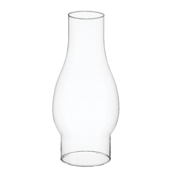 194795- Chimney 8.5″ Clear Glass 12/Cs