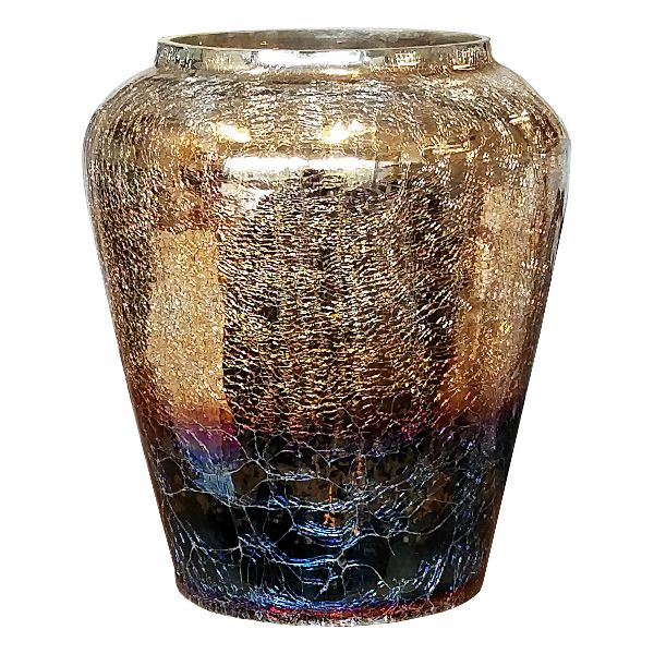 240236- Vase 10.5″ Hurricane Tri Color