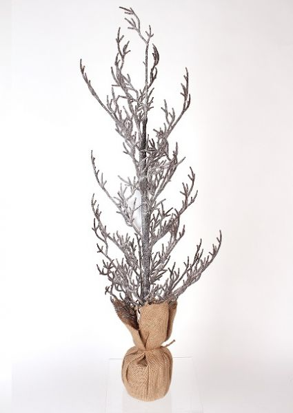 227832 –  31″ NATURAL ICE TWIG TREE WITH BURLAP BASE