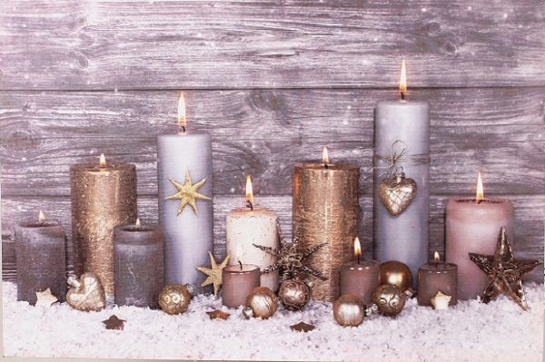 254293 –  16″ X 24″ CANDLES SCENE CANVAS W/LED LIGHTS