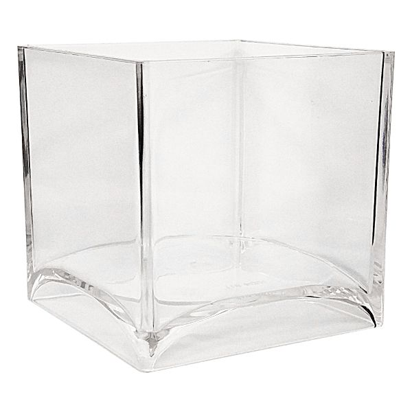 811- Cube Clear 4″ Plastic  24/Case