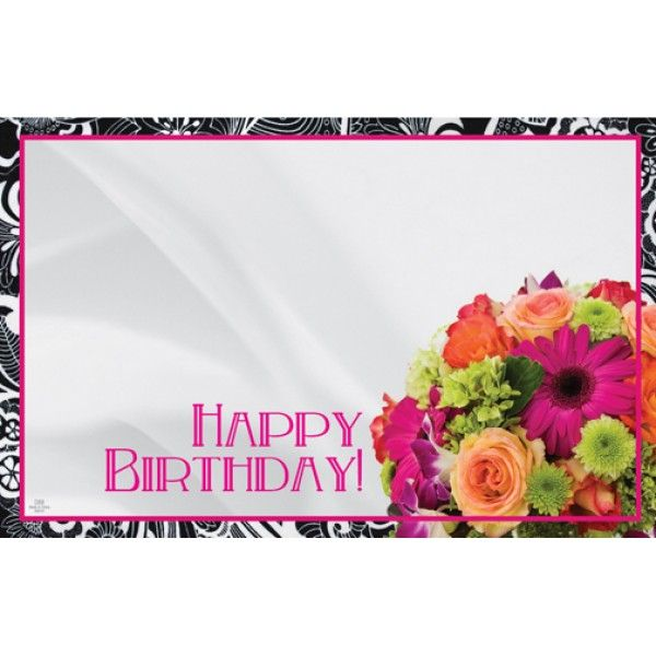 SP0230- Card Happy Birthday Bouquet  50/Pkg