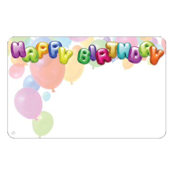 SP0367- Card Happy Birthday Balloons  50/Pkg