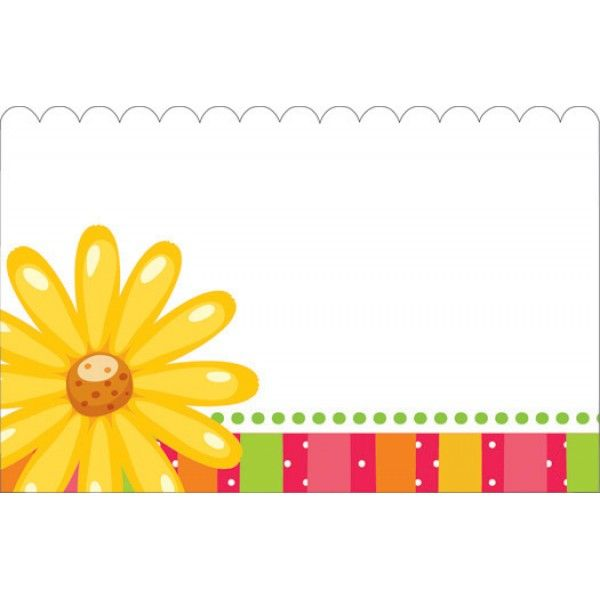 SP0433- Card No Sentiment W/Daisies  50/Pkg
