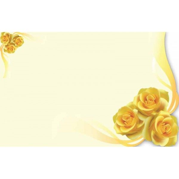 SP0495- Card No Sentiment Yellow Rose  50/Pkg