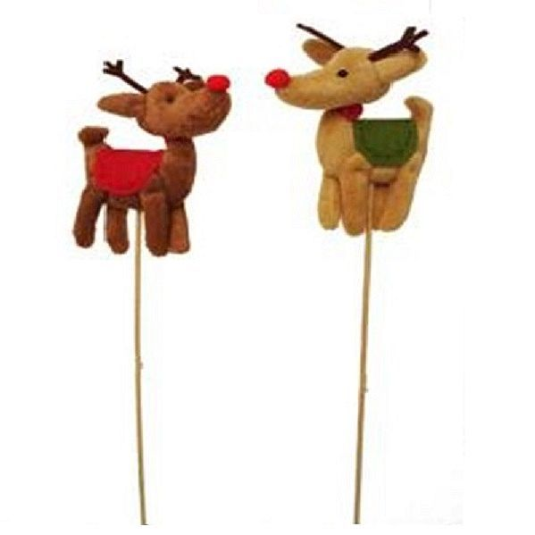 212702AST –  MINI REINDEER ON 23.5″ PICK, PKG/2 ASST