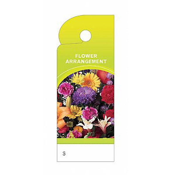 BB2359- TRIM TAG FLOWER ARRANGEMENT PKG/100 (BB4359)