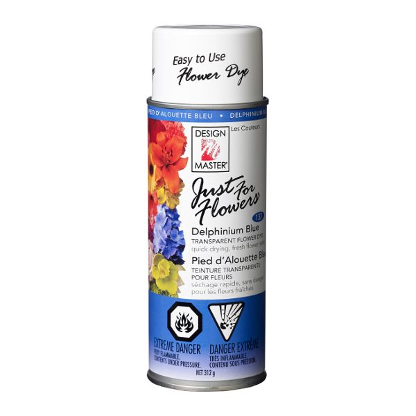 DM-137- PAINT JUST FOR FLOWERS DELPHINIUM BLUE 12 OZ CS/4
