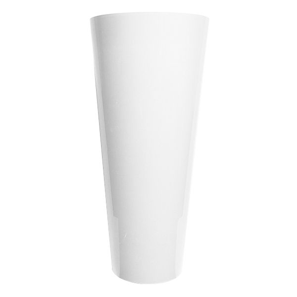 45-38141-  STOCK VASE 22 X 10″ OP WHITE 4/CS