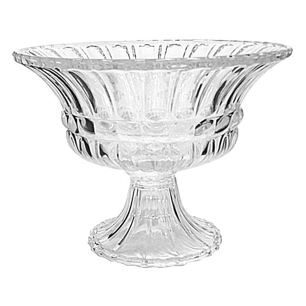G240- BOWL PEDESTAL 12″ CRYSTAL CS/2