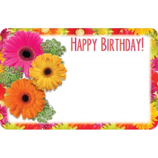 SP0365 –  HAPPY BIRTHDAY W/GERBERAS  PKG/50