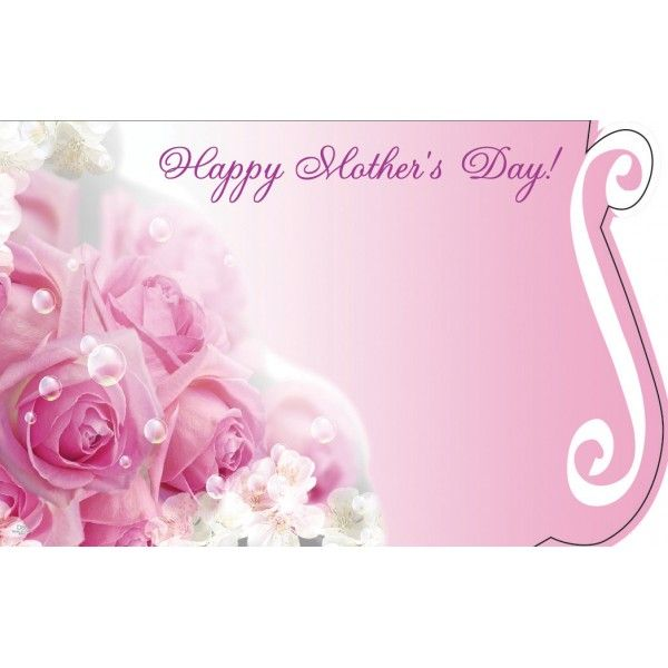 SP0403 –  HAPPY MOTHER'S DAY W/ROSE BOUQUET  PKG/50