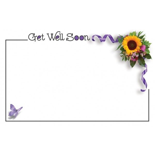 SP0412 –  GET WELL SOON W/SUNFLOWER  PKG/50