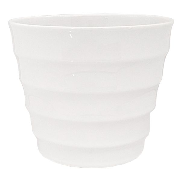85-5548-5WHT- PLANTER 4.5 HT X 5.5″ OP RIBBED TAPERED WHITE