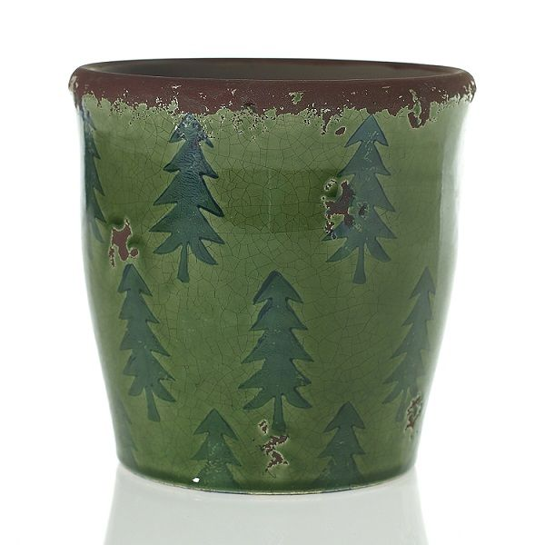 9518100 –  6.5″ X6.25″ GREEN MERI MERI POT