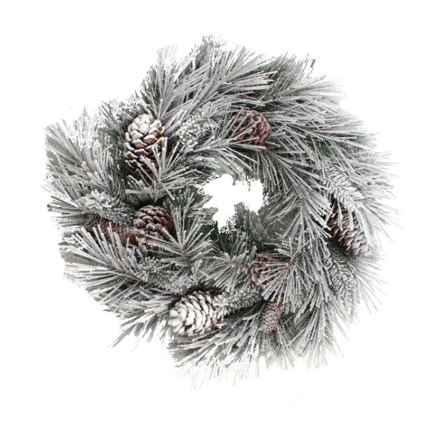 264556 –  30″ X 30″ DELUXE SUGAR PINE WREATH, WITH PINE CONES