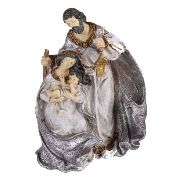 268190 –  12.5″ PLATINUM GOLD CARVED HOLY FAMILY