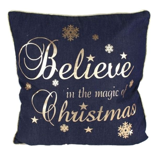 262001 –  16″ NAVY/GOLD BELIEVE PILLOW