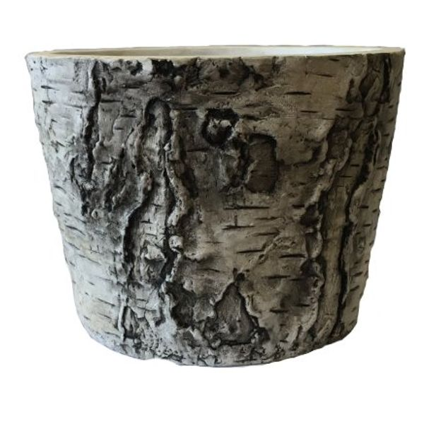 875754-6 –   5.5″HT X 7.25″ CEMENT BIRCH POT
