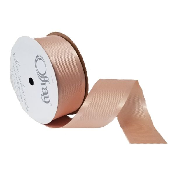 163303-401 –  #9 X 25 YDS PALE PEACH SATIN GROSGRAIN RIBBON