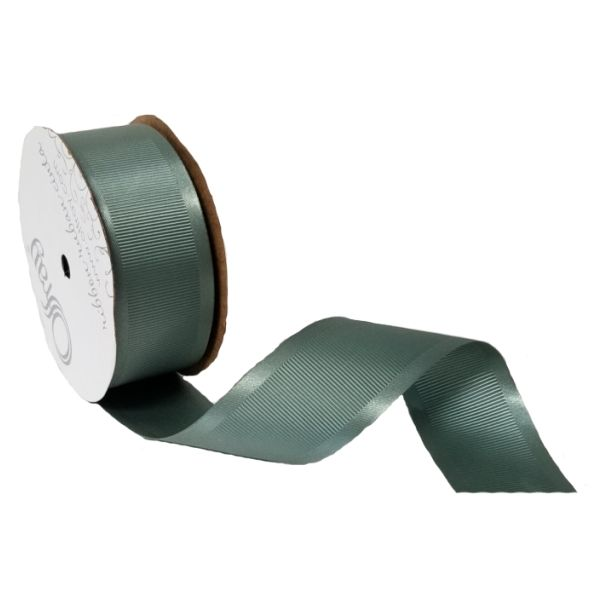 163303-576 –  #9 X 25 YDS DARK SHALE SATIN GROSGRAIN RIBBON