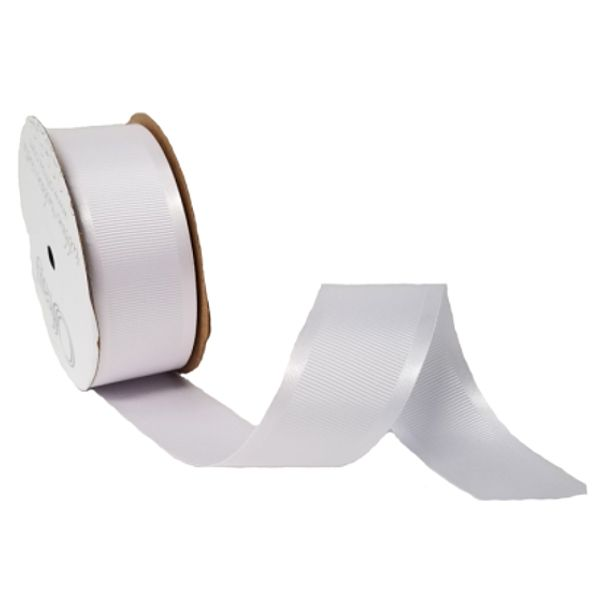 163303-700 –  #9 X 25 YDS WHITE SATIN GROSGRAIN RIBBON