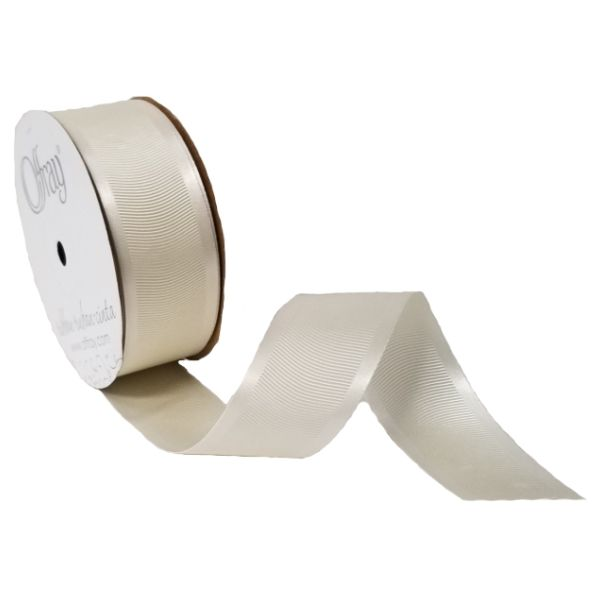 163303-712 –  #9 X 25 YDS ANTIQUE WHITE SATIN GROSGRAIN RIBBON