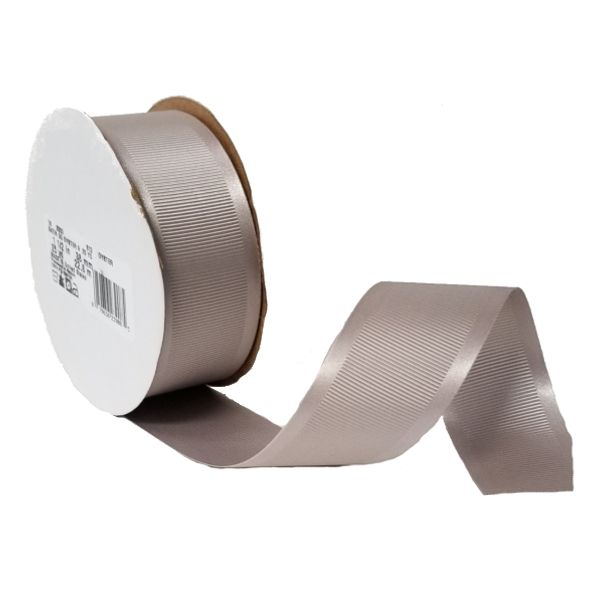 163303-813 –  #9 X 25 YDS OYSTER SATIN GROSGRAIN RIBBON