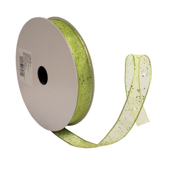 W3503-19  –  #3 X 25 YDS CITRUS WIRED FLASH RIBBON