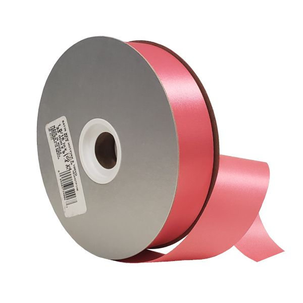 W9-165  –  #9 X 100 YDS NEW HOT PINK SATIN ACETATE RIBBON