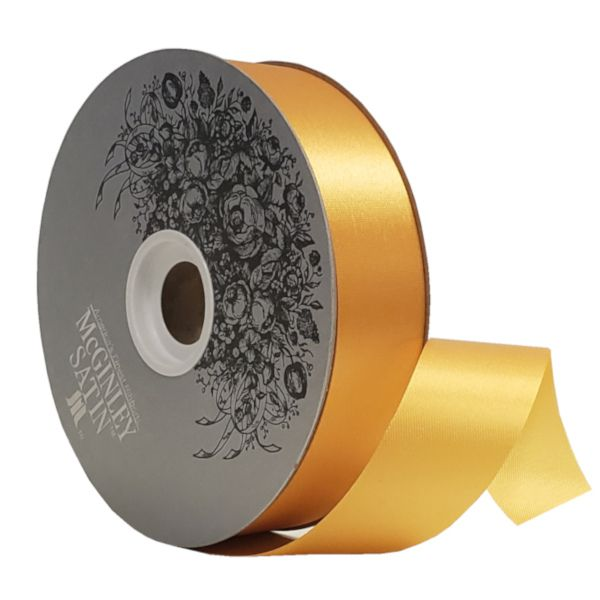 W9-361  –  #9 X 100 YDS AMBER SATIN ACETATE RIBBON