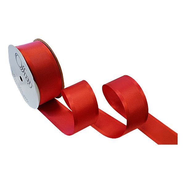 163303-105-  RIBBON SATIN GROSGRAIN #9 X 25 YDS RED
