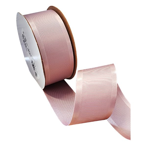 163303-125-  RIBBON SATIN GROSGRAIN #9 X 25 YDS FROSTED BERRY