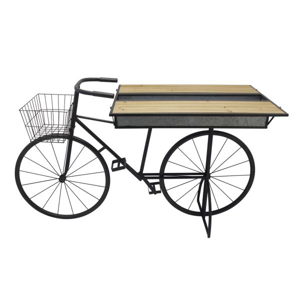 14912  –  34″ METAL/WOOD BICYCLE WITH FOLDING SHELVES