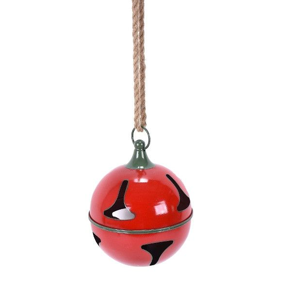 105487  –  7.75″ RED METAL BELL ORNAMENT W/ROPE