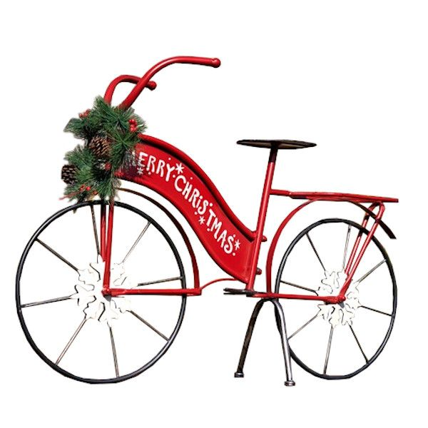 ZR181746  –  36.5″L X 9.5″W X 25″H LARGE MERRY CHRISTMAS BICYCLE