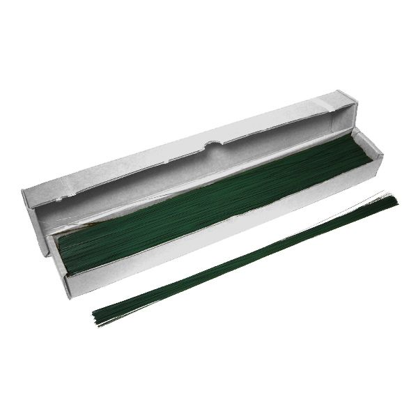 505-04-07  –  22 GUAGE GREEN FLORIST WIRE, BX/12 LBS
