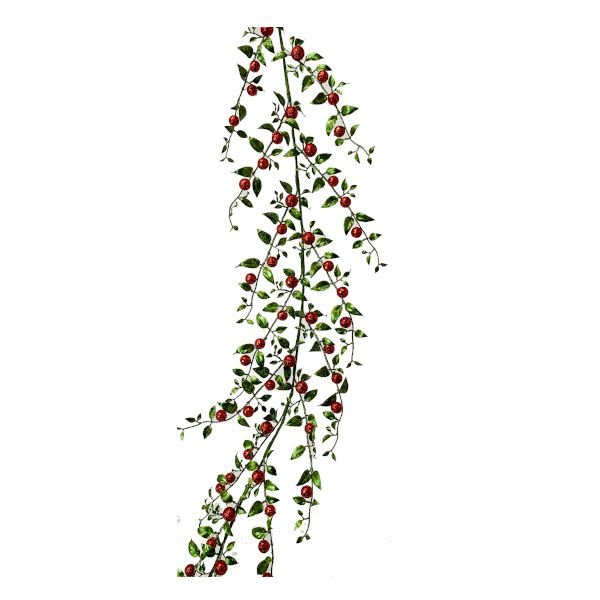 263035RGR  –  6′ RED/GREEN HOLIDAY BERRY GARLAND